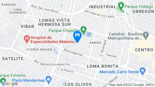 Amueblados Arbide Map