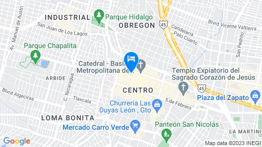 Capital O Hotelito Lindo & Boutique León Map