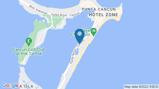 Le Blanc Spa Resort Cancun Adults Only All-Inclusive Map