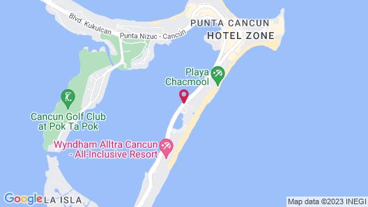 Sunset Royal Beach Resort - All Inclusive Map
