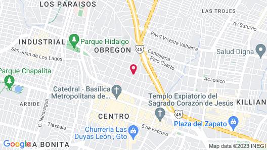 Entre Patios Hotel Boutique Map