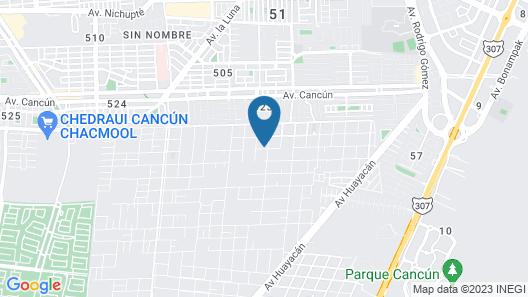 Hacienda Madroño Cancun Map