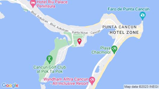 La Villa du Golf à Cancun Map