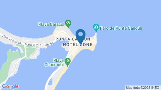 Krystal Cancun Map