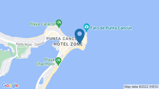 Krystal Grand Cancún Map