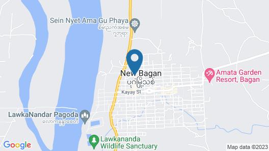 Bagan View Hotel Map