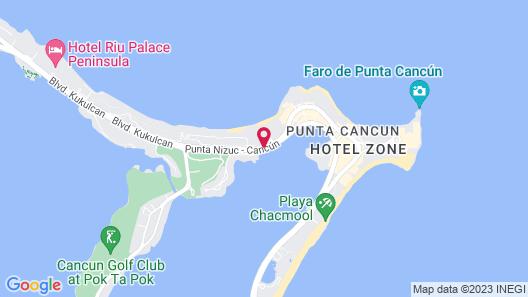 InterContinental Presidente Cancun Resort Map