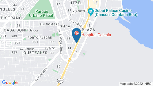 One Cancun Centro Map