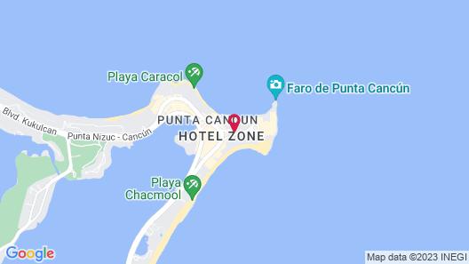 Grand Fiesta Americana Coral Beach Cancun - All inclusive Map