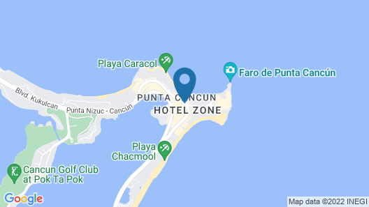 Aloft Cancun Map