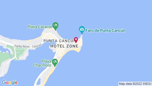 Hyatt Ziva Cancun All Inclusive Map