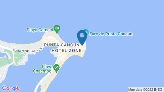 Turquoize at Hyatt Ziva Cancun - Adults Only - All Inclusive Map