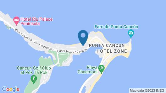 Reflect Cancun Resort & Spa Map