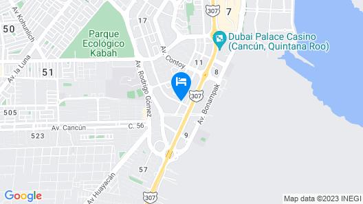 Tres Soles Apartments Map