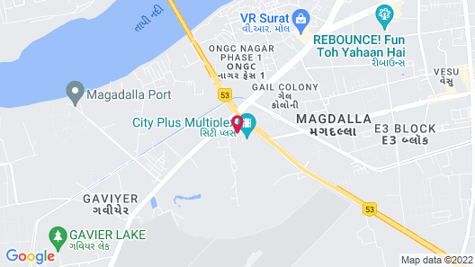 Orange Megastructure LLP (Formerly TGB Surat, upcoming as Le Meridien) Map