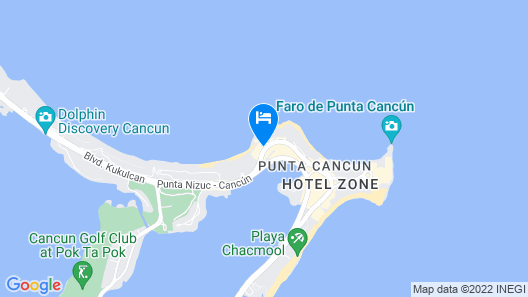 Dreams Sands Cancun Resort & Spa Map