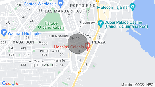 Luxury VIP House IN Cancun Map