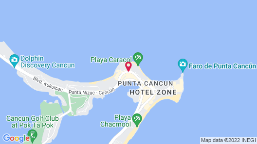 Riu Palace Las Americas All Inclusive - Adults Only Map