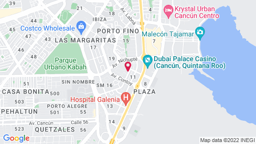 Home Away From Home - Cancun Map