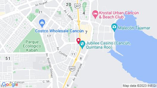 ibis Cancun Centro Map