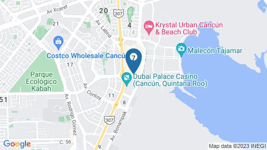 City Express Cancun Map