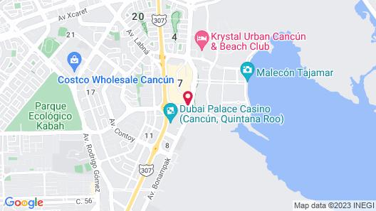 Fiesta Inn Cancun Las Americas Map