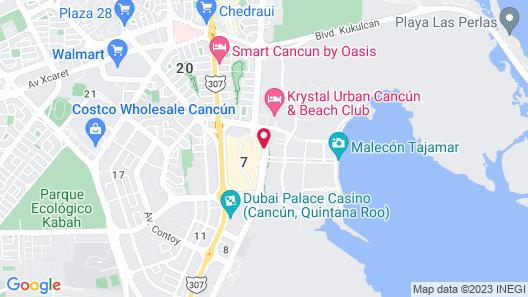 Suites Malecon Cancun Map