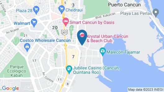 Krystal Urban Cancun Centro Map