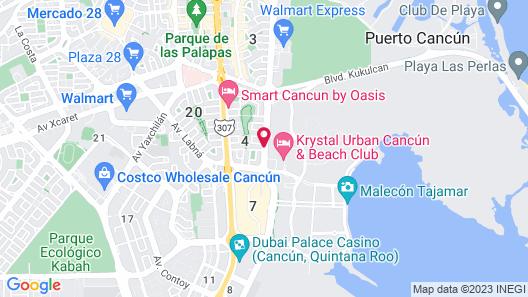 Hotel Bonampak Map