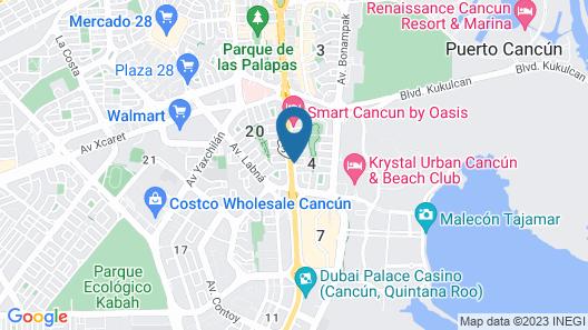 Wyndham Garden Cancun Downtown Map