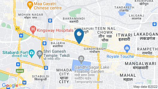 Mango Hotels Nagpur Map