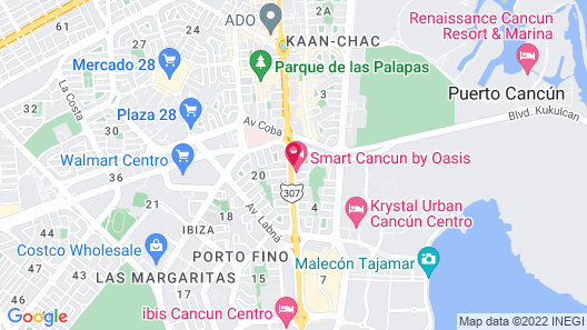 Oh! Cancun The Urban Oasis Map