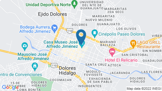 Hotel Boutique Independencia Map