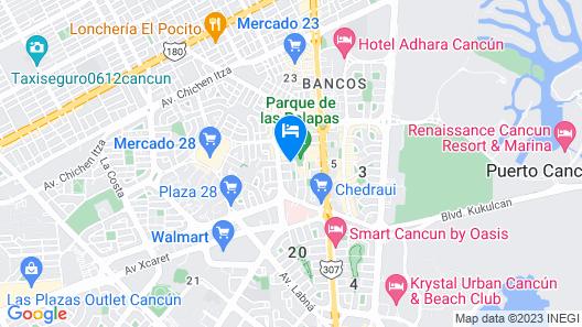 Cancun Palapas Suites Map