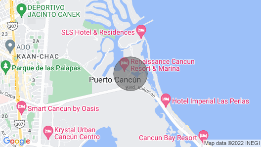 4BR sleep8 Modern & cosy Deluxe Condo in Cancun Map