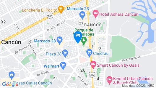LABNA Suites Cancun Map
