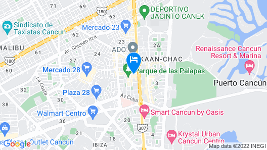 Hotel Colonial Cancun Map