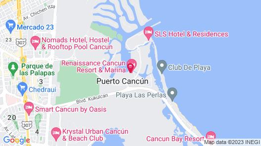 Renaissance Cancun Resort & Marina Map