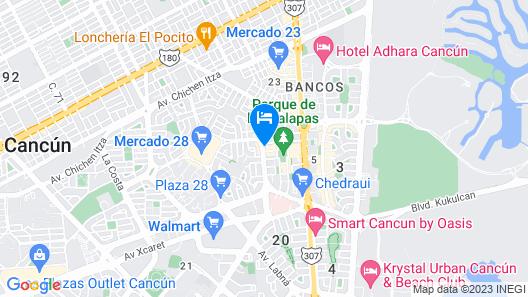 Xbalamque Resort and Spa Map