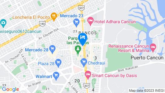 Selina Cancun Downtown Map