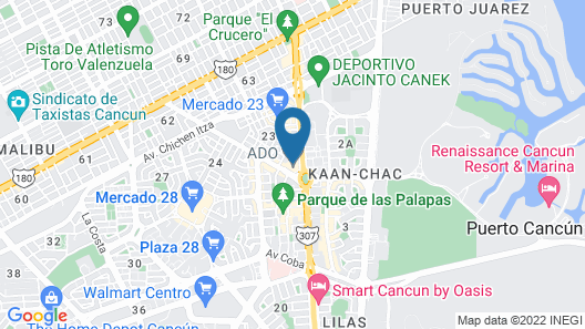 Hotel Plaza Caribe Map