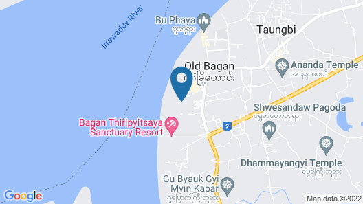 Bagan Thande Hotel Map