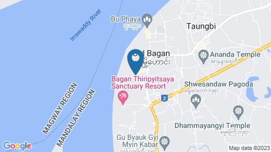 Bagan Hotel River View Map