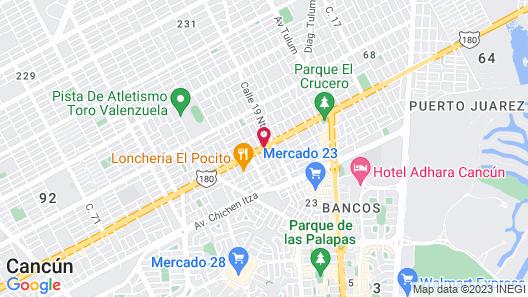 Hotel Santa Maria Cancun Map