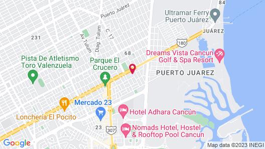 Hotel DNA Cancun Map