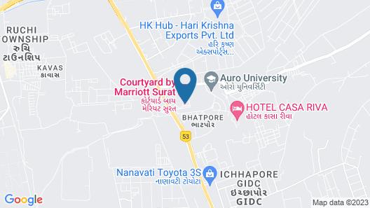 Courtyard by Marriott Surat Map