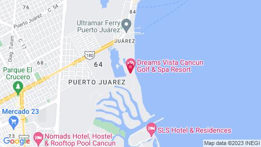 Dreams Vista Cancun Golf & Spa Resort - All Inclusive Map