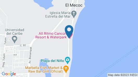 All Ritmo Cancun Resort & Water Park Map