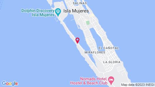 Hotel Beló Isla Mujeres Map