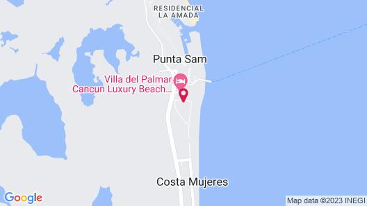 Garza Blanca Cancún - All Inclusive Map